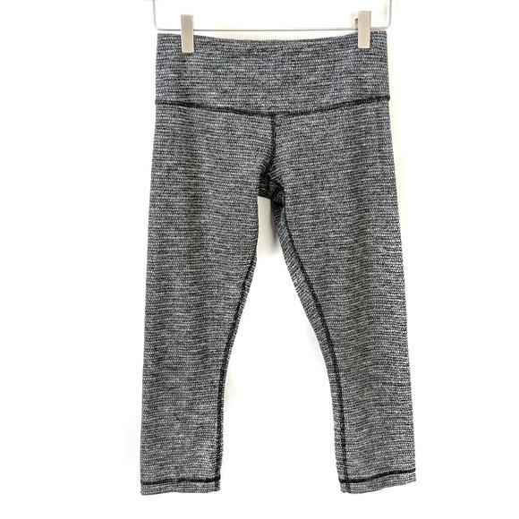 70e50fda1eecde lululemon athletica Pants | Lululemon Black Gray Capri Yoga Leggings ...